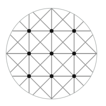 Equilateral rectangle lattice